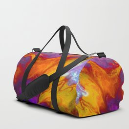 Fluid Abstract 37; The Fire Rages On Duffle Bag