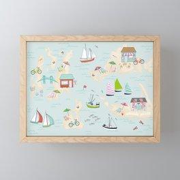 Summer On The Islands Framed Mini Art Print
