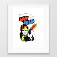 han solo Framed Art Prints featuring Han Solo by Popp Art
