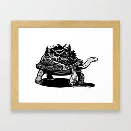 World Tortoise Framed Art Print