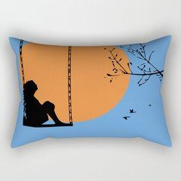Dreaming like a child Rectangular Pillow