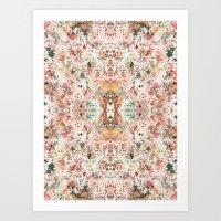minerals Art Prints featuring Mystic Minerals by Caroline Sansone