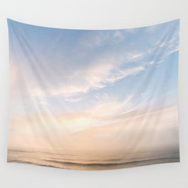 Waves at Sunset off the Oregon Coast Wall Tapestry