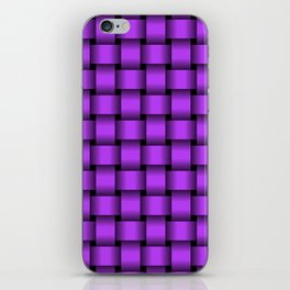Light Violet Weave iPhone Skin