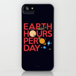 Earth Hours Per Day iPhone Case