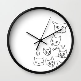 Cats Cat Wall Clock