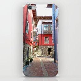 Ribadesella streets 1 iPhone Skin