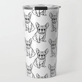 Fashionable French bulldog. Travel Mug