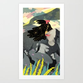 The Knight Of Pentacles Art Print