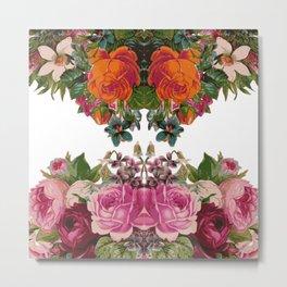 Flora Pattern Metal Print