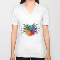 insect V-neck T-shirts featuring İnsect by kartalpaf
