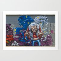 rock and roll Art Prints featuring Rock&Roll by Roberto Pagani