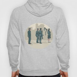 Soldier Bagpiper Marching Circle Watercolor Hoody