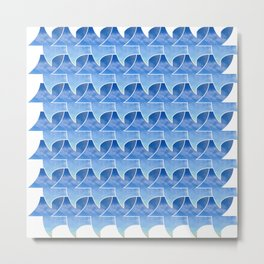 Tessellation with beach and sky Metal Print