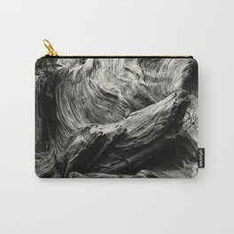 Etched by Nature Scarred by Man bw Carry-All Pouch