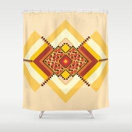 GEO CASHEW 2  Shower Curtain