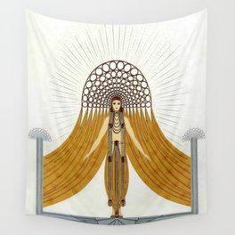 "Art Deco Oriental Design ""Café Foujita"" Wall Tapestry"