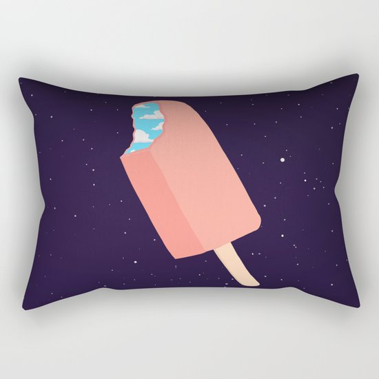 Creamsicle To Another Dimension... (inverted) Rectangular Pillow