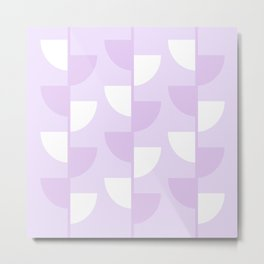 Pastel Warm Lilac Flowers in the Summer Sun - Geometric Abstract Metal Print