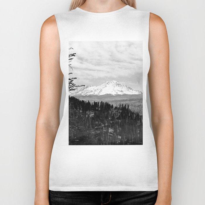 Mount Shasta, and neighboring mountain Shastina, Siskiyou County, ca.1900-1940 Biker Tank