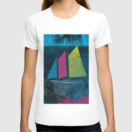 little boat in the ocean T-shirt