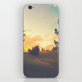 falling through a field iPhone Skin