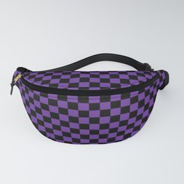 Halloween Purple and Black Checkerboard Pattern SM Fanny Pack
