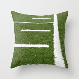 Football Lines Throw Pillow