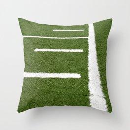 Football Lines Throw Pillow