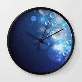 Illustraiton of underwater background with light rays Wall Clock
