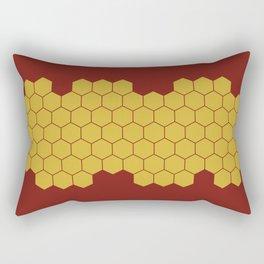 Honeycomb Red Rectangular Pillow