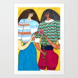Painting Roses – PH5 girls in Fall 2019 Looks – Original Fashion art, Fashion Illustration Art Print