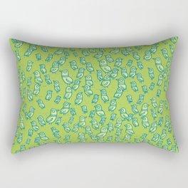 Rockwell Birds - Green Rectangular Pillow