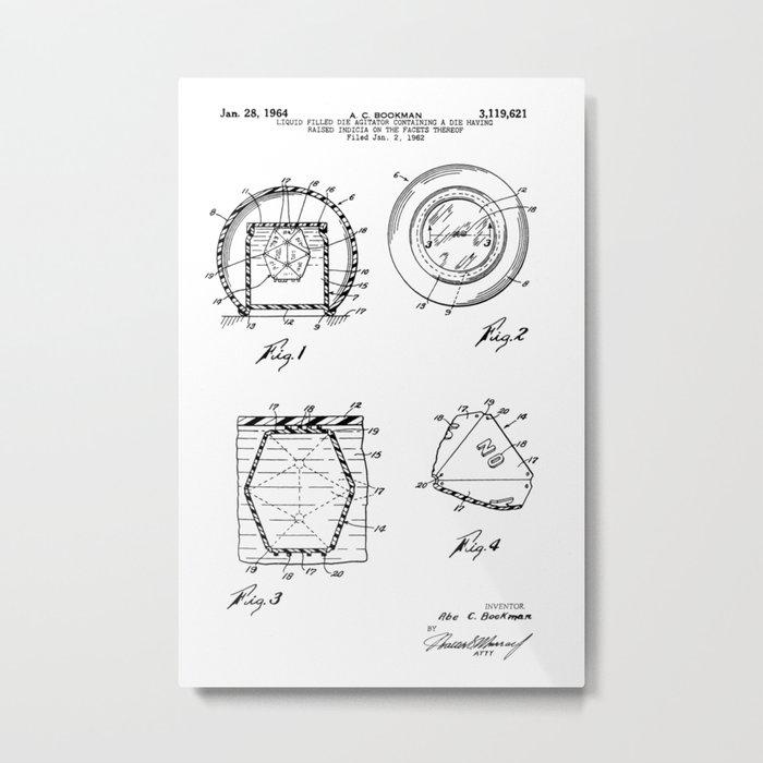 Magic Eight-Ball Patent Metal Print