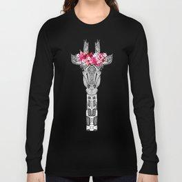 FLOWER GIRL GIRAFFE Long Sleeve T-shirt