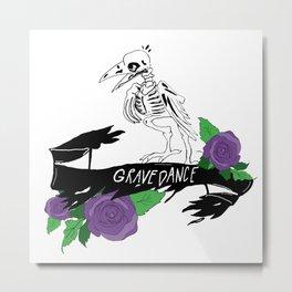 Grave Dance Crow Metal Print