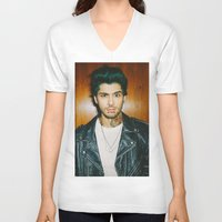 zayn malik V-neck T-shirts featuring Zayn Malik Punk Edit by Vinny's Edits