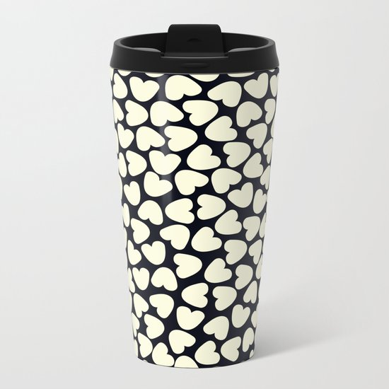 Love Pattern  Metal Travel Mug