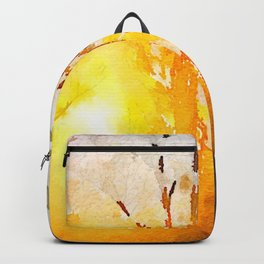 Solitude is independence. Backpack