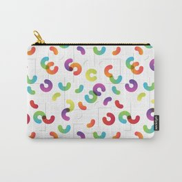 Funny color design. Arcs and Lines #1 Carry-All Pouch