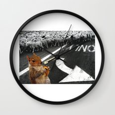 You Don't Have To Follow The Crowd Wall Clock