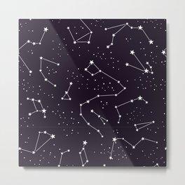 constellations pattern Metal Print