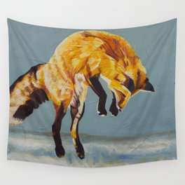 Fox Pounce – 2 Wall Tapestry