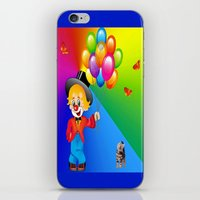 clown iPhone & iPod Skins featuring Clown by Art-Motiva