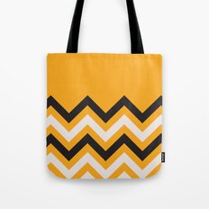 Orange Zigzag Tote Bag