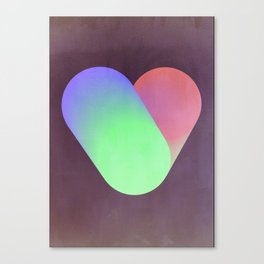 Heart in color Canvas Print