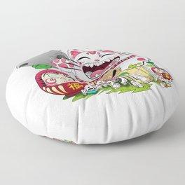 Maneki-neko in the magical world Floor Pillow