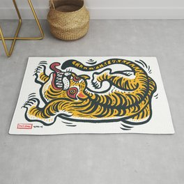 Cute Japanese tiger Rug
