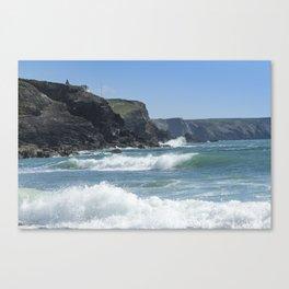 White Surf 01 Canvas Print