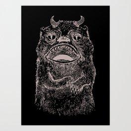 Illustrated Hairy Beast Art Print